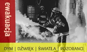 Próbna ewakuacja z użyciem dymu, dźwięku, światła, manekinów, oraz pozorantów